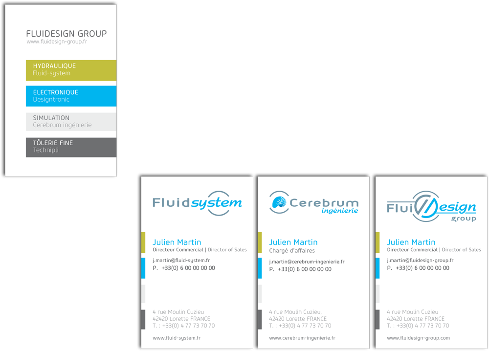 Carte-de-visite Fluidesign Group